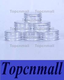 Wholesale Eye Screws For Jewelry - 2ML Clear Plastic Empty Jar28x13MM Clear Lid 2Gram Pot Sample Size For Cosmetic Cream Eye Shadow Nails Powder Jewelry E-Liquid