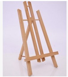 Wholesale Wooden Easels - Free shipping Painting supplies arts tools Mini cute small wooden easel display beech