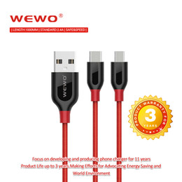 Wholesale Red Micro Usb Cable - USB Cables 5V2.4A Metal Nylon Braided Wire USB Charger Sync Data Cable for Phone Samsung Galaxy Xiaomi HuaWei Iphone