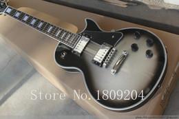Wholesale Solid Rosewood Electric Guitar - Wholesale-New arrival G Custom shop Les silverburst LP electric guitar,Chrome hardware,H-H pickups LP guitar,free shipping