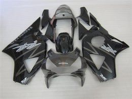 Wholesale Cbr954rr Fairings - 3 gift New Hot ABS motorcycle Fairing kits 100% Fit For Honda CBR900RR CBR954RR 2002 2003 900RR 954RR 02 03 bodywork set nice Black Silver