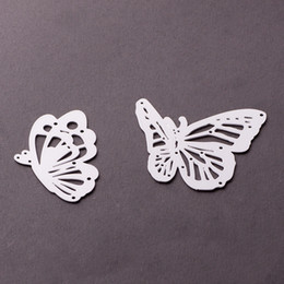 Wholesale Metal Die Cutting - Cutting Dies DIY Carbon Metal Cutting Dies 5 Styles To Choose Love Bottle Butterfly Snowflake Decoration Metal Template Molds-Butterfly