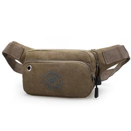 Wholesale Men Casual Brown Belt Canvas - Popular Men's Waist Packs Casual Fanny Pack Unisex Waist Bag Fashion Multifunction Bag Mini Belt Bag Men Travel Purse HB120