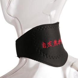 Wholesale Self Heating Tourmaline - Black Self-heating Neck Guard Cervical Vertebra Self Heating Magnetic Massager Belt Tourmaline Support Orthopedic
