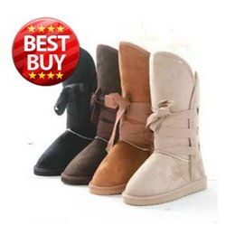 Wholesale Sewing Charms Wholesale - Wholesale- Hot Sale Lace-up F28cm B22cm Women's Snow Boot Lady Winter Boots Women 2016 with 3 holes & black, beige ,light brown,coffe,pink