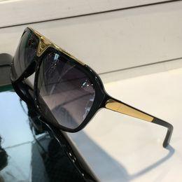 Wholesale Alloy Designer Logos - Evidence Luxury Millionaire Sunglasses Retro Vintage Men Brand Designer Sunglasses Shiny Gold Summer Style Laser Logo Gold Plated