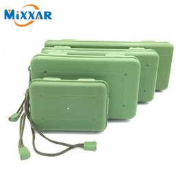 Wholesale Car Travel Case - Waterproof Anti Fall Green Plastic Storage Box For Flashlight Light Torch Lamp Battery Charger Case with 5 Kinds of Size