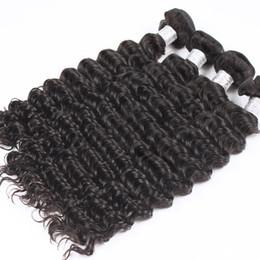 Wholesale Tight Curly Natural Hair Weave - Uglam Hair Product Peruvian Virgin Hair Extension Deep Wave 10pcs lot Deep Wave Tight curly Peruvian Human Hair Weaves Free Ship