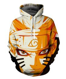 Wholesale Men S One Piece - Wholesale- Naruto Sasuke 3d Anime Hoodie Sweatshirt Male Long Sleeve Outerwear Pullovers One Piece Anime Jacket Men