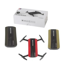 Wholesale Video Camera Connections - New arrival Phone Control JXD523 Tracker Foldable Mini Rc Selfie Drone with Wifi FPV 720P HD Camera Altitude Hold&Headless Mode VS JJRC H37