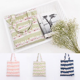 Wholesale Housing Shop - Wholesale- YILE 2-layer Handmade Cotton Canvas Eco Shoulder Bag Shopping Print Houses three color to choose from L211