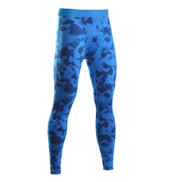 Wholesale Tights Capris For Men - Wholesale- New Fashion Men Camouflage Pants Bodybuilding Joggers Fitness Slimming Tights Leggings For Male Quick Dry Tactical Camo Trousers