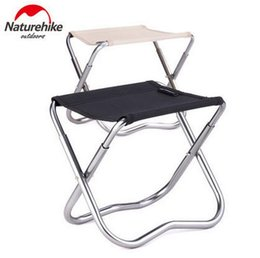 Wholesale folding travel stools - Wholesale- Naturehike Outdoor Fishing Chair Super Light Weight Portable Folding Stool Travel Camping Barbecue Beach Backrest Chairs