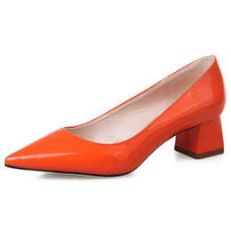 Wholesale Cheap Orange High Heels - New Cheap Womens Dress Pumps Online Shopping Ladies High Heels Purchase Discount Patent Leather Shoes Designer Female Name Brand Outlet Shoe