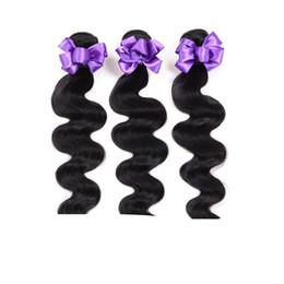 Wholesale Online Human Hair Wholesale - Best Cheap Peruvian Human Hair Peruvian Body Wave 3 Bundles Natural Color #1B Hair Extensions Online UK Peruvian Hair