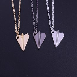 Wholesale Black Torque - Fashion Jewelry Simple Couple Aircraft Pendant Necklace Ornaments Personality Neck Chain Minimalist Chain Neck Rope Torque