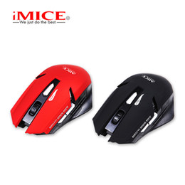 Wholesale Wireless Gaming Receiver - Original iMice E-1700 Wireless Optical Gaming Mouse USB Computer Mouse With 2.4G Receiver 6 Buttons Mice Retail Package