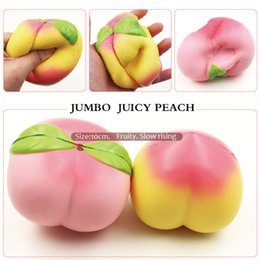 Wholesale Charm Phones - 20PCS 10CM Jumbo kawaii Squishy Slow Rising Peach Pendant Phone Straps Charms Queeze Kid Toys Cute squishies Bread