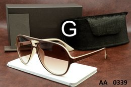 Wholesale Ford Tops - luxury top qualtiy New Fashion 0339 Tom Sunglasses For Man Woman Erika Eyewear ford Designer Brand Sun Glasses with original box TOM FO