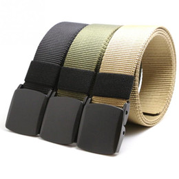2020 нейлоновые джинсы Wholesale- 2016  New Automatic Buckle Nylon Belt Male Army Tactical Belt Jeans Men Waist Designer Belts Men Strap дешево нейлоновые джинсы