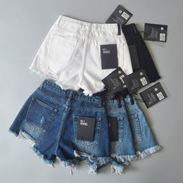 Wholesale Snap Tassels - Fashion Summer 2017 street snap personality sexy tassels broken tore up jeans female summer hot pants joker burrs jeans denim shorts