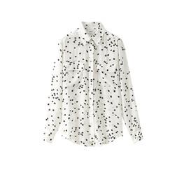 Wholesale Classic Ladies Blouses - garment factory classic star print america equipment ladies' 100%silk woven blouse sandwash cdc silk apparel wovmen shirt