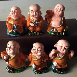 Wholesale Little Peoples - Brand new Car ornaments cute little monk car accessories security HM016 mix order as your needs