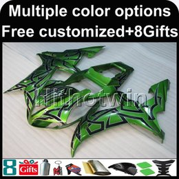 Wholesale Green R1 Fairings - 23colors+8Gifts GREEN Body motorcycle cowl for Yamaha YZF-R1 2002-2003 02 03 YZFR1 2002 2003 02-03 ABS Plastic Fairing