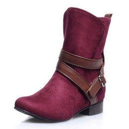 Wholesale Size 47 Ladies Shoes - SJJH Size 30-47 Woman Ladies Shoes Zapatos Mujer Chaussure Women Boots Ankle Boots Bota Riding Boots Casual Lady Martin Boots EDX0052