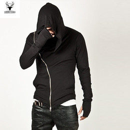 designs for hoodies Promo Codes - Wholesale-Men's Fashion sportswear 2016 Hot Brand Diagonal ZIP-UP Mens Assassin Creed Sweatshirt Hoodie Fashion Design For Men Sportswear
