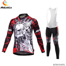 Wholesale Grey Lycra Suit - 2016 MALCIKLO Brand New Arrivals The Olympic Style Cycling Jerseys Sets Long-Sleeved Suit Can Be Called Bikes Cothes Uniforme Ciclismo XS-3X