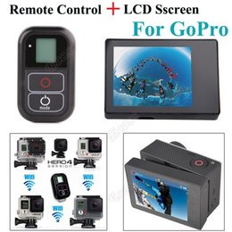 Wholesale Smart Hero - Freeshipping 2 IN 1 4 Remote Accessories Smart WIFI Remote Control+LCD BacPac Display Screen For GoPro Hero 4 Hero 3+ 3 Camera