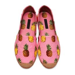 Wholesale Design Espadrilles - Design New Pineapple Yellow Pink Black Women Espadrilles Hemp Bottom Fisherman Flats Shoes Casual Lazy Person Shoes Women Zapatillas Big 42