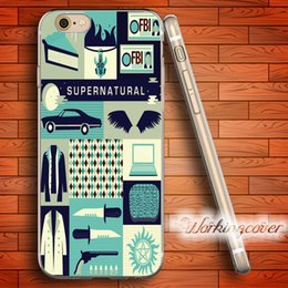 Wholesale Iphone 5c Clear Tpu - Fundas Supernatural Collage Soft Clear TPU Case for iPhone 7 6 6S Plus 5S SE 5 5C 4S 4 Case Silicone Cover.