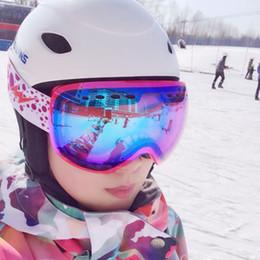 Wholesale Blue Mountains Ski - Wholesale- Gsou snow Sports skiing Outdoor mountain Snowboard women Glasses goggles Adult Snowmobile Skate Ski UV protect Eyewear