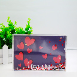 Wholesale Drop Ship Plastic Models - Hot Sale Products Plastic Square Liquid Photo Holder Acrylic Picture Frame Birthday Gifts Kids Wholesale 72pcs Carton Drop Shipping