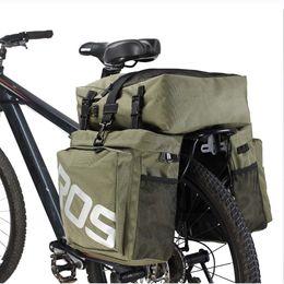 Wholesale Panniers Bike - Bike Accessories 37L MTB Mountain Bike Rack Bag 3 in 1 Multifunction Road Bicycle Pannier Rear Seat Trunk Bag 14892
