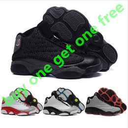 Wholesale Cheap Black Winter Boots Women - Drop ship Wholesale Cheap Retro 13 Basketball Shoes Men 2017 High Cut Boots High Quality All black Sneakers Sports Shoes Free Shipping 41-47