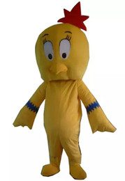 Wholesale Hen S Party - high quality happy chiceken mascot cock yellow rooster costume hen mascots for party dress cartoon character mascots for sale