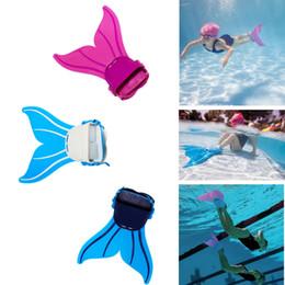 Wholesale Mermaid Mascot - Cute Kid Children Mermaid mascot costume Swim Fin Diving Monofin Swimming Foot Flipper Pink   Green   Blue