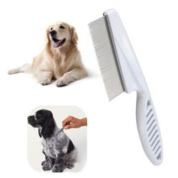 Wholesale Bathing Table - New Arrival Dog Comb Stainless Steel Teeth Hair Brush Dog Grooming Brush for Dogs Cat Furminators Removed Flea Combs Pet Supplies