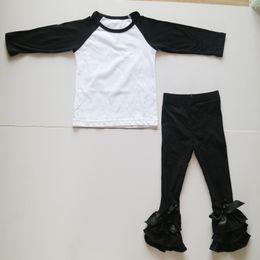 Wholesale Boutique Dress 12 - wholesale raglan shirts set triple leggings outfits for girl children fall autumn clothing set girl spring clothing dress boutique