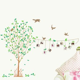 Wholesale Tree Design Frame - 60*90cm Wall Stickers DIY Art Decal Removeable Wallpaper Mural Sticker for Bedroom Living Room LM8001 The Life Tree with Photo Frame