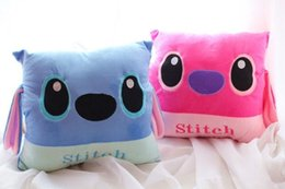 Wholesale Pillow Toy Stitch - Wholesale- 1pc Lilo Stitch Warm Hands Pillow Cushion Plush Toys Stuffed Toy 2 colors available