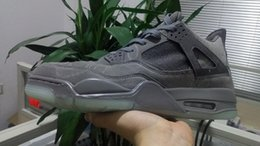 Wholesale High Cut Black Tennis Shoes - High quality Grey KAWS XX basketball shoes Men black suede outdoor athletic trainer tennis size 41-47