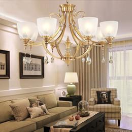 Lustre haut de gamme style européen plein de lustres en cuivre lampe salon chambre salle à manger bureau d'étude villa hôtel escalier pendentif lumière ? partir de fabricateur