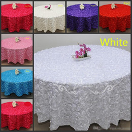 Wholesale Wedding Table Red Flower Decorations - Blush Pink 3D Rose Flowers Table Cloth for Wedding Party Decorations Cake Tablecloth Round Rectangle Table Decor Runner Skirts Carpet Cheap