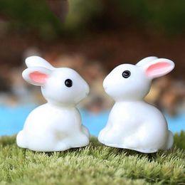 Wholesale China Plant Pots - NEW 2X Mini Rabbit Garden Ornament Figurine Decor Plant Pot Fairy Garden Style