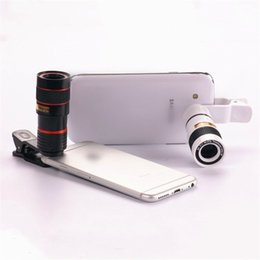 Wholesale Mobile Phone Telescope Camera Lens - HD Mobile Phone Telephoto Lens 8X Zoom Optical Telescope Camera Lens with Clips Universal All Phone For iPhone 7 Samsung Huawei Xiaomi LG