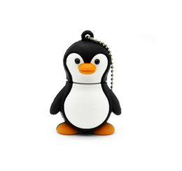 Wholesale Genuine 16gb 32gb Memory - Genuine cartoon penguin USB Flash Drive U Disk USB Creativo Pendrive 4gb 8gb 16gb 32gb Memory Stick Real capacity
